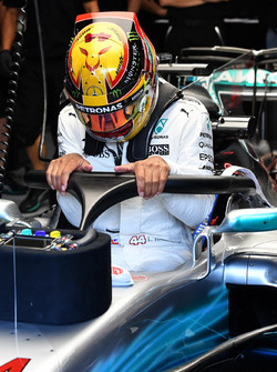 Lewis Hamilton, Mercedes-Benz F1 W08 mit Halo