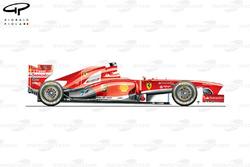 Ferrari F138 side view, Brazilian GP