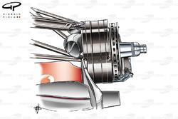 McLaren MP4-23 2008 brake duct detail