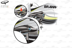 Brawn BGP 001 2009 rear bodywork development