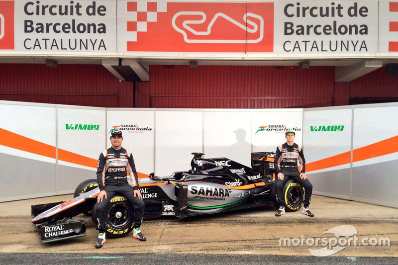 Sergio Perez, Sahara Force India F1 and Nico Hulkenberg, Sahara Force India F1 unveil the Sahara For