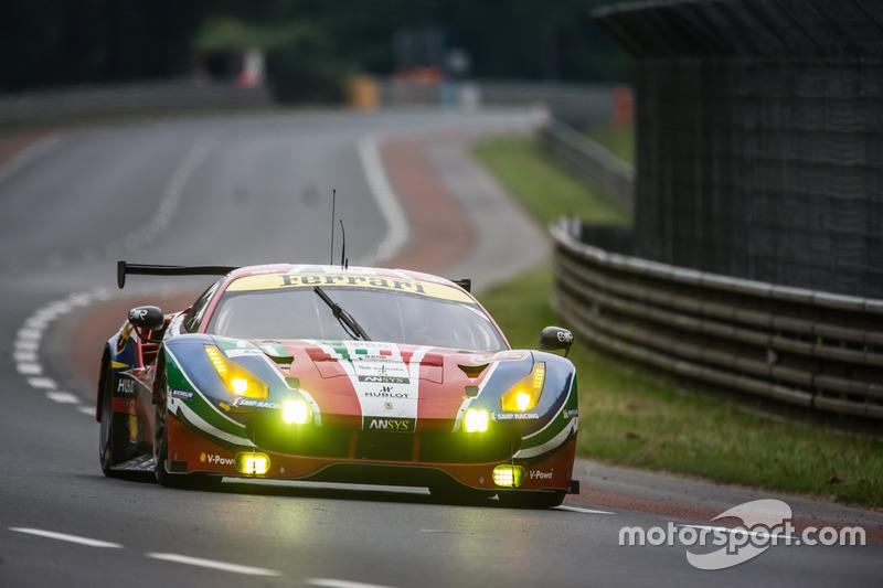 33: Ferrari 488 GTE команды AF Corse (№71): Давиде Ригон, Сэм Бёрд, Андреа Бертолини