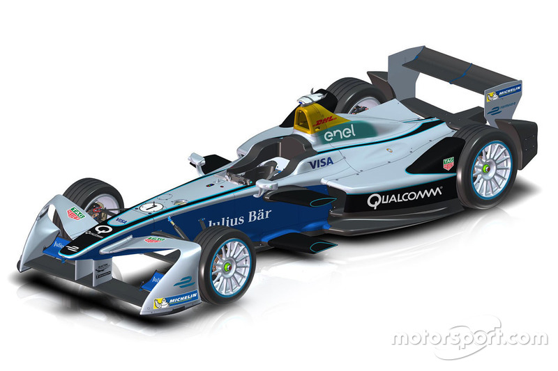 Desain sayap depan Formula E 2017