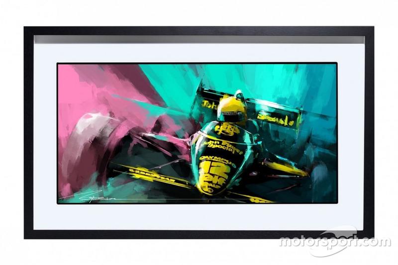Peinture Ayrton Senna - Lotus F1, de Mike Kim