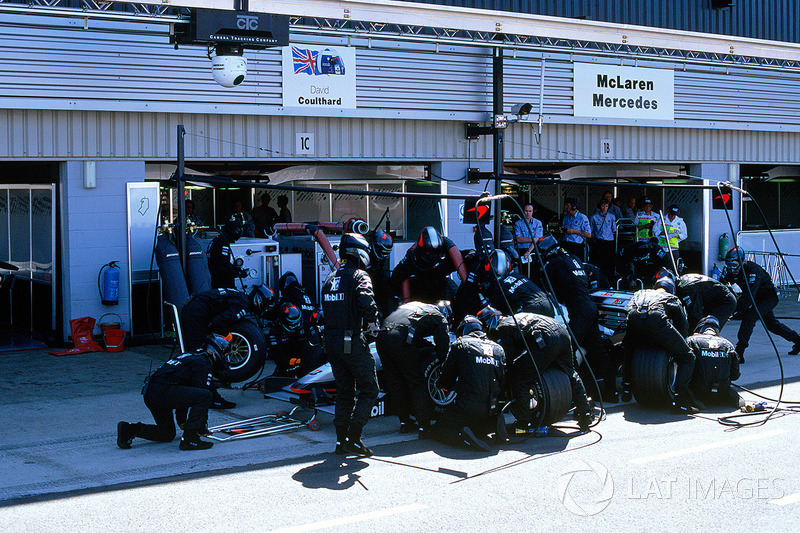 Pitstop van Coulthard:
