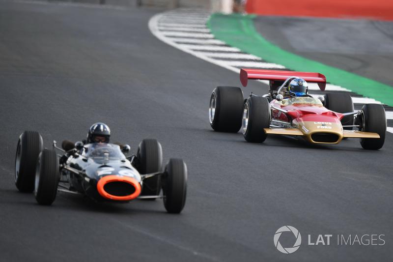 Lotus 49B at Silverstone 70th Anniversary Parade