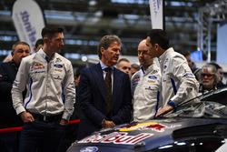 Sébastien Ogier, Malcolm Wilson, Elfyn Evans and co-drivers Julien Ingrassia and Daniel Barritt