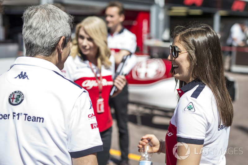 Tatiana Calderón, Sauber Test y Xevi Pujolar, Sauber