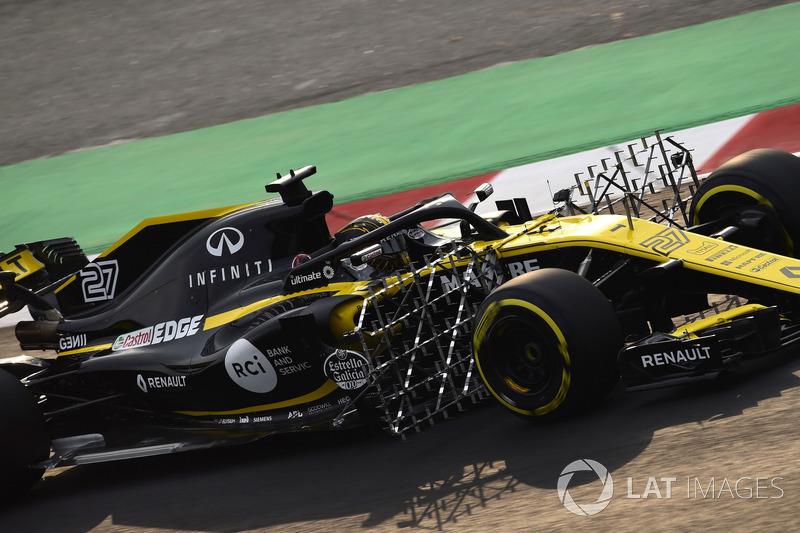 Nico Hulkenberg, Renault Sport F1 Team RS18, avec des capteurs aéro