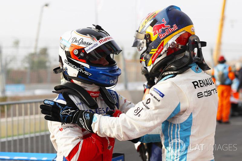 Yarış galibi Felix Rosenqvist, Mahindra Racing, 2. Sébastien Buemi, Renault e.Dams