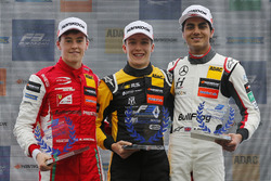 Rookie podium: Winner Sacha Fenestraz, Carlin Dallara F317 - Volkswagen, second place Marcus Armstrong, PREMA Theodore Racing Dallara F317 - Mercedes-Benz, third place Enaam Ahmed, Hitech Bullfrog GP Dallara F317 - Mercedes-Benz