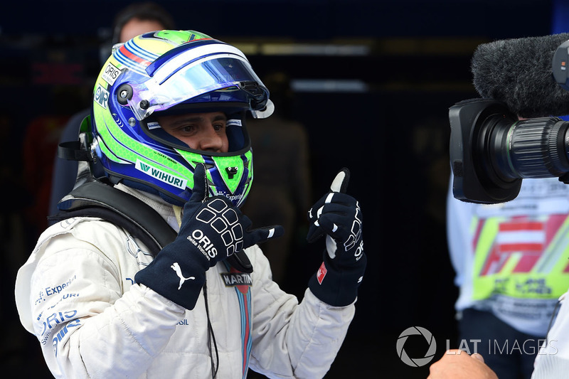 Felipe Massa celebrando una pole con Williams