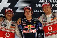 Подіум: 1. Себастьян Феттель, Red Bull - Renault. 2. Льюіс Хемілтон, McLaren-Mercedes. 3. Дженсон Баттон, McLaren-Mercedes