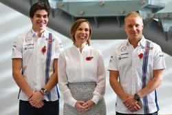 Lance Stroll, Valtteri Bottas, Claire Williams, Williams Deputy Team Principal