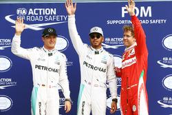 Топ-3 кваліфікації: друге місце - Ніко Росберг, Mercedes AMG F1, поул-сіттер - Льюіс ХЕмілтон, Merce