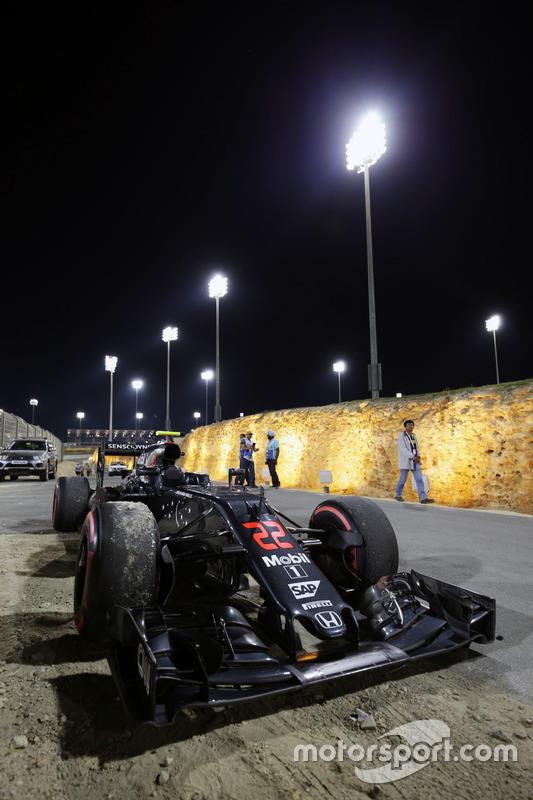 De McLaren MP4-31 van Jenson Button, McLaren
