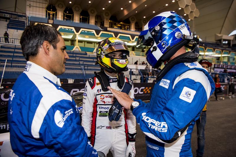 Juan Pablo Montoya, Lando Norris, David Coulthard