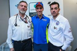Alex Rins, Team Suzuki MotoGP, Dr Angel Charte, MotoGP Tıbbi Direktörü Dr Michele Zasa, Clinica Mobile