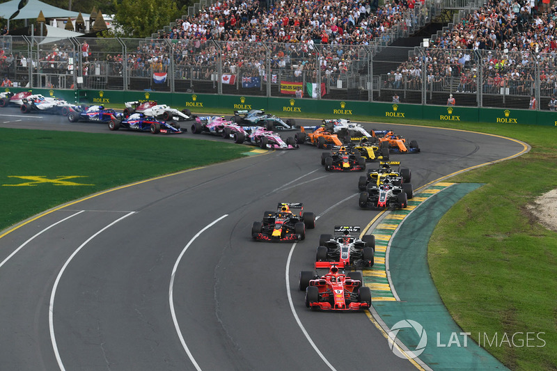 Sebastian Vettel, Ferrari SF71H startta