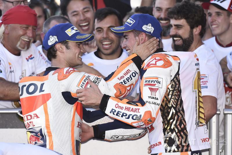 Marc Marquez, Repsol Honda Team, Dani Pedrosa, Repsol Honda Team in Parc Ferme