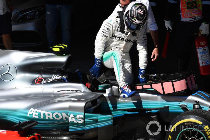 Valtteri Bottas, Mercedes-Benz F1 W08  in parc ferme