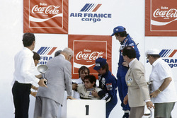 Podio: Nelson Piquet, Brabham, collassa