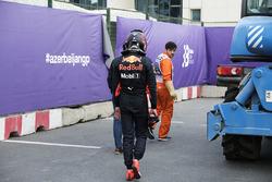 Max Verstappen, Red Bull Racing walks away following his crash