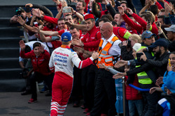 Felix Rosenqvist, Mahindra Racing, festeggia sul podio