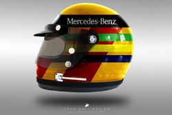 Lewis Hamilton 1970's helmet concept