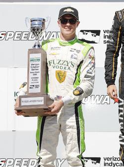 Spencer Pigot, Ed Carpenter Racing Chevrolet, podium