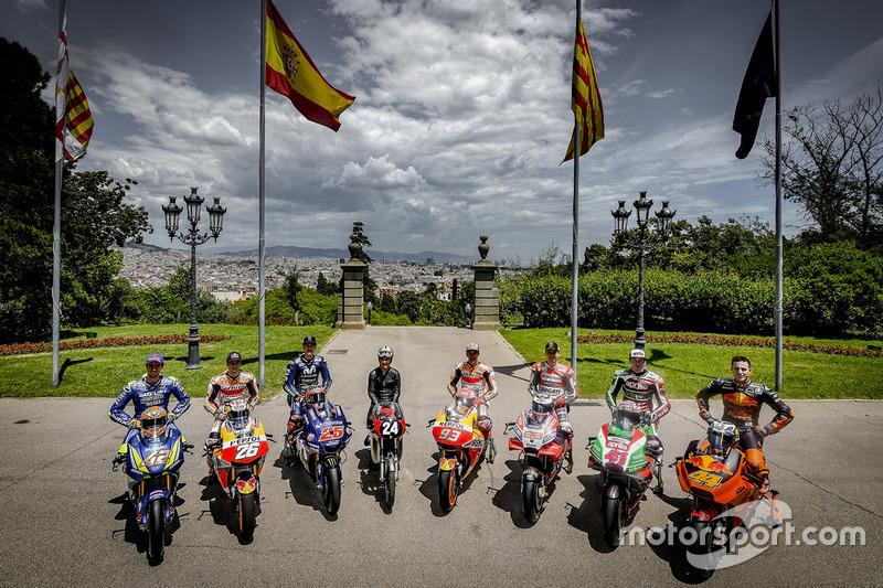 Salvador Cañellas, Marc Marquez, Dani Pedrosa, Maverick Viñales, Jorge Lorenzo, Alex Rins, Pol Espargaro, Aleix Espargaro