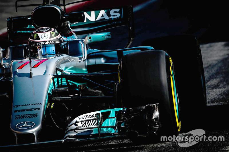3º Valtteri Bottas, Mercedes AMG F1 W08, 1m19.310s (superblandos)