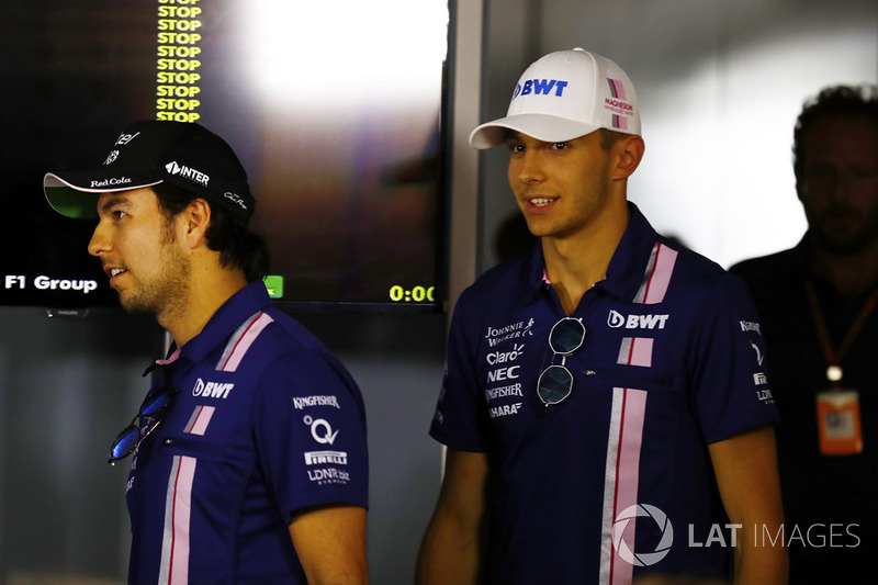 Press conference: Esteban Ocon, Force India, Sergio Perez, Force India