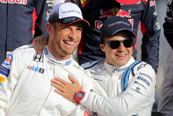 Jenson Button, McLaren F1 en Felipe Massa, Williams F1 Team
