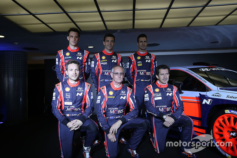Dani Sordo, Hayden Paddon, John Kennard, Marc Marti, Nicolas Gilsoul, Thierry Neuville, Hyundai Motorsport revelan el Hyundai i20 Coupe WRC 2017