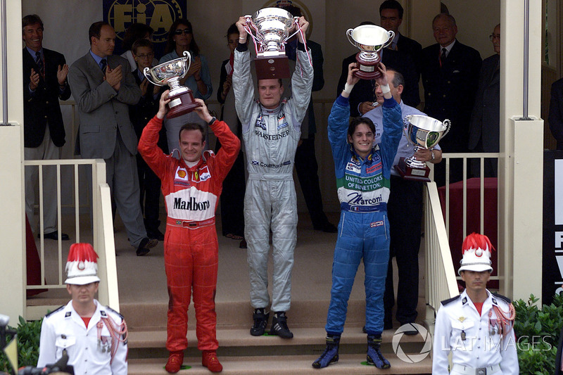 2000 - 1. David Coulthard, 2. Rubens Barrichello, 3. Giancarlo Fisichella