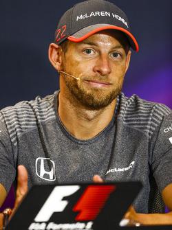 Jenson Button, alla conferenza stampa