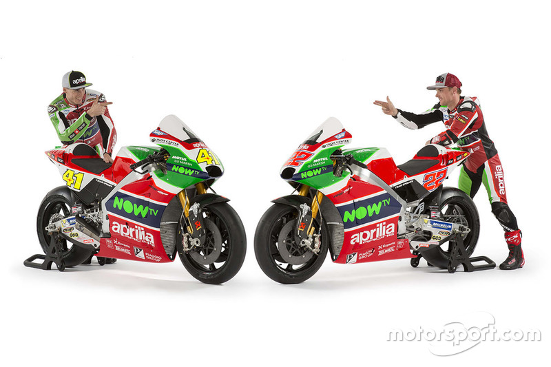 Гонщики Aprilia Racing Team Gresini Алеш Эспаргаро и Сэм Лоус