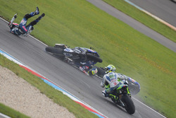 Crash von Federico Caricasulo, GRT Yamaha Official WorldSSP Team, Lucas Mahias, GRT Yamaha Official WorldSSP Team