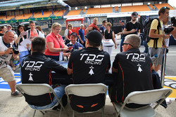 Гонщики TDS Racing Франсуа Перродо, Матье Ваксивьер и Эммануэль Коллар
