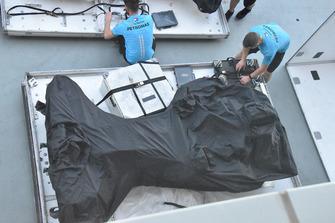 Mercedes W09 chassis afgedekt