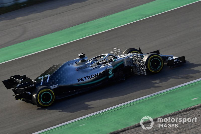 Valtteri Bottas, Mercedes-AMG F1 W10 EQ Power+ with aero sensor