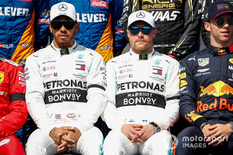 Lewis Hamilton, Mercedes AMG F1 e Valtteri Bottas, Mercedes AMG F1