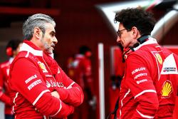 (L to R): Maurizio Arrivabene, Ferrari Team Principal with Mattia Binotto, Ferrari Chief Technical Officer
