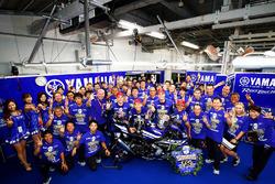 Racewinnaars Katsuyuki Nakasuga, Alex Lowes, Michael Van Der Mark, Yamaha Factory Racing Team