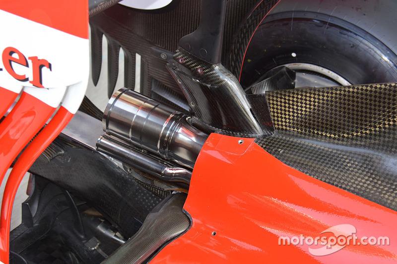 Ferrari SF16-H: Auspuff, Detail