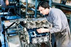 Construction du moteur de F1