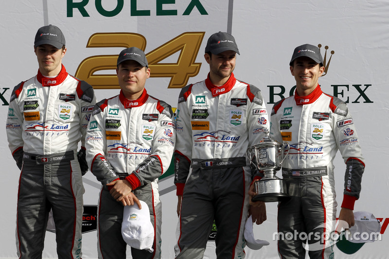 Segundo GTD, #29 Montaplast by Land-Motorsport Audi R8 LMS GT3: Connor de Phillippi, Christopher Mies, Jules Gounon, Jeffrey Schmidt