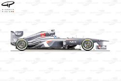Sauber C32 side view, Italian GP