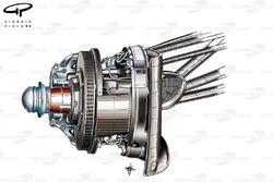 Ferrari F150 front brake disc
